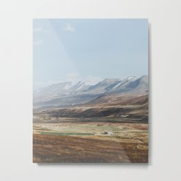 Icelandic Farm Country Metal Print