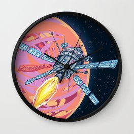 Satellite in space Wall Clock