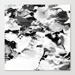 Blk Marble Canvas Print