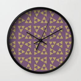 Print 132 - The Legend Of Zelda Triforce - Purple Wall Clock