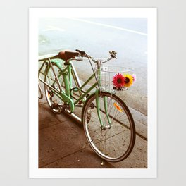 MINTY BIKE Art Print