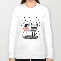 dancing Long Sleeve T-shirts featuring dancing by Regina Rivas Bigordá