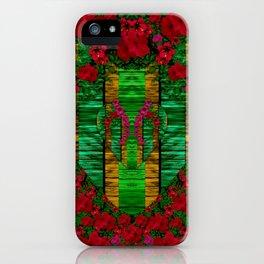 loveable landscape in big flower blooms iPhone Case