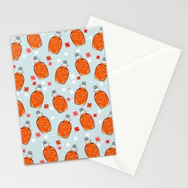 Canadian Maple Syrup - Light Blue Stationery Cards