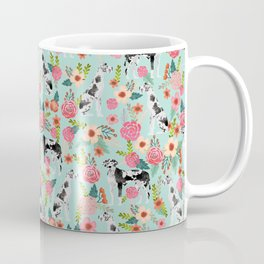 Great Dane dog breed florals mint pattern print for dog owner with great dane must have gifts Coffee Mug