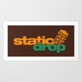Static drop v6 HQvector Art Print