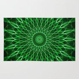 Mandala with dark and light green tones Rug