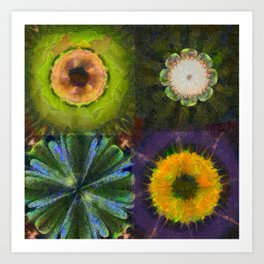 Counterhypothesis Harmony Flowers  ID:16165-102147-41840 Art Print