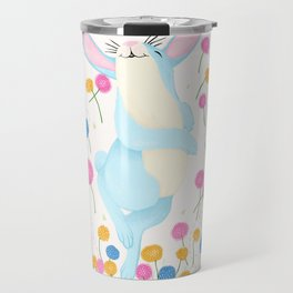 Bouncing Baby Blue Bunny Travel Mug