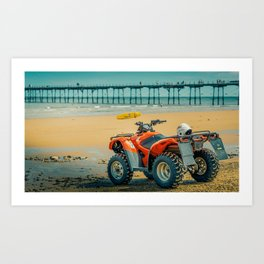 Vintage Baywatch Art Print