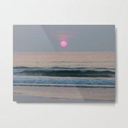 Pink Sun Metal Print