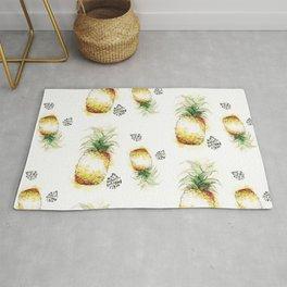 Pineapple watercolor pattern Rug