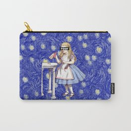 Trippy Alice - Blue Carry-All Pouch