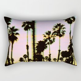 California Dreaming Palm Trees Sunset Rectangular Pillow
