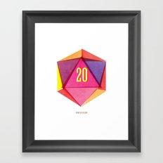 Rolling D20's Like A Big Shot  Framed Art Print