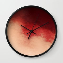Pink Cherry Wall Clock