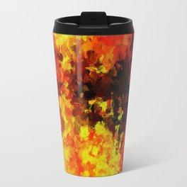 Yellow Abstract Art Travel Mug