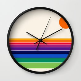 Coolie - retro 70s style throwback sunset sunrise socal cali beach vibes Wall Clock