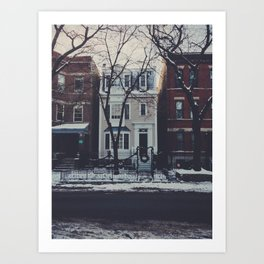 Snowy Chicago Art Print