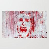 american psycho Area & Throw Rugs featuring AMERICAN PSYCHO by John McGlynn