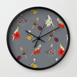 Cockatiels Galore Wall Clock