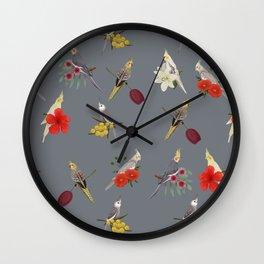 Cockatiels Galore Wall Clock