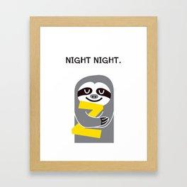Night Night. Framed Art Print