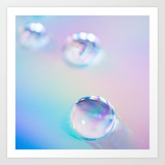droplets*blue Art Print
