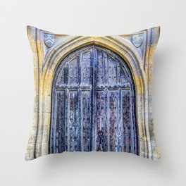 Ancient Church Door Throw Pillow