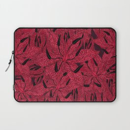 T.F TRAN RED PYTHON LILY GYMEA Laptop Sleeve
