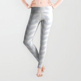 Light Grey Scandinavian leaves pattern Leggings