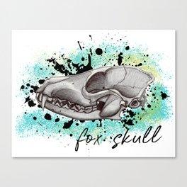 fox skull (whtite) Canvas Print