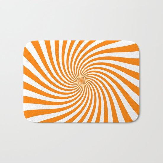 Swirl (Orange/White) Bath Mat