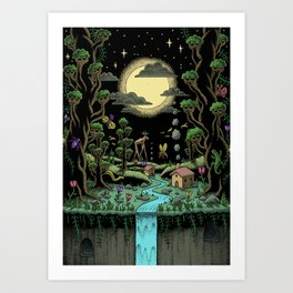 Magical Forest (in colour) Art Print