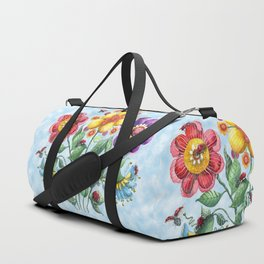 Ladybug Playground on a Summer Day Duffle Bag