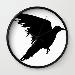 Ragged Raven Silhouette Wall Clock