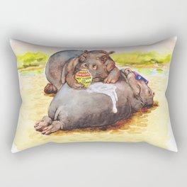 hippo sunblock Rectangular Pillow