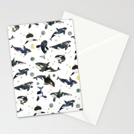 Orca pattern Stationery Cards