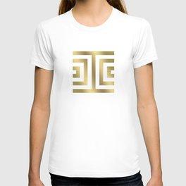 Gold Greek Stripes T-shirt