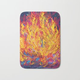 Fire and Passion - Here's to New Beginnings Bath Mat