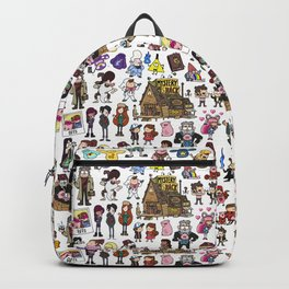 Cute Gravity Falls Doodle Backpack