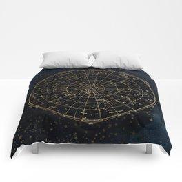 Golden Star Map Comforters
