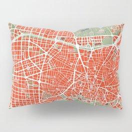 Madrid city map classic Pillow Sham