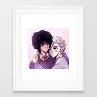 yaoi Framed Art Prints featuring Drarry by MitsouParker