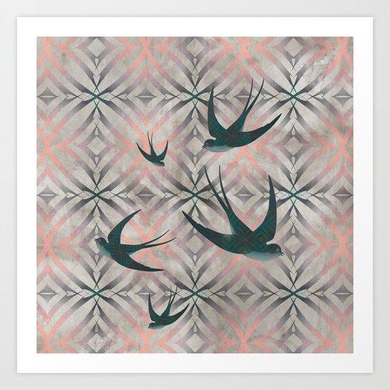 Swoop (in Pink) Art Print