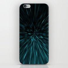 Blue and black Hypergalaxy iPhone & iPod Skin