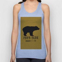 Papa Bear Brown Unisex Tank Top