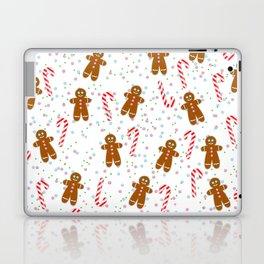 Gingerbread man wishes you Merry Xmas! - White Laptop & iPad Skin