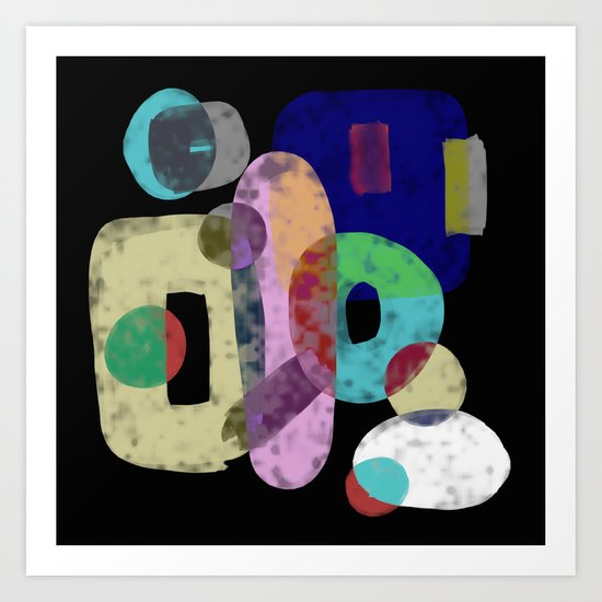 Abstract Pastel Art - Eclectic, pastel, abstract artwork Art Print