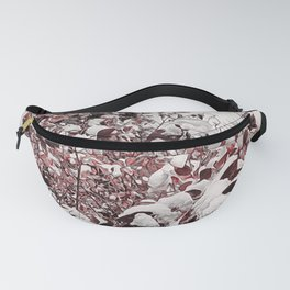Fresh Snow On Red Leaves Fanny Pack